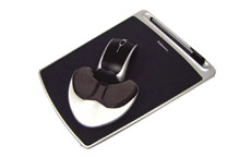 Fellowes Health-V Fabrik Easy Palm Glide Mouse Mat Palm Support Lycra Covering Black