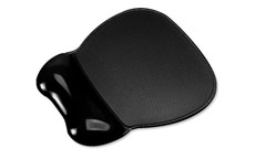 Mouse Mat Pad Wrist Rest Non Skid Easy Clean Soft Gel Black