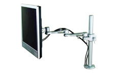 LCD Desktop Mount 2 Way Adjustable Monitor Arm Up To 22in Holds Silver