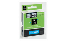 Dymo D1 Tape for Electronic Labelmakers 12mmx7m Black on Clear