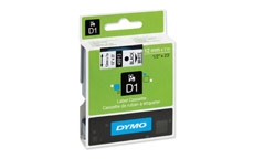 Dymo D1 Tape for Electronic Labelmakers 12mmx7m Black on White
