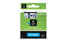 Dymo D1 Tape for Electronic Labelmakers 12mmx7m Blue on White