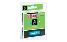 Dymo D1 Tape for Electronic Labelmakers 12mmx7m Red on White