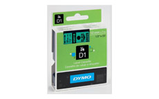 Dymo D1 Tape for Electronic Labelmakers 12mmx7m Black on Green