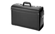 Alassio Genova Pilot Case Multi-section 2 Combination Locks Leather-look Black