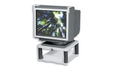 Fellowes Premium Monitor Riser for 21in Capacity 36kg 5 Heights 64-165mm Platinum