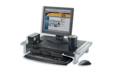 Fellowes Office Suites Monitor Riser Large Height-adjustable with Storage Tray 22kg Load