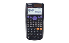 Casio Calculator Scientific Solar and Battery TwinLine Natural Textbook Display 10+2 Digit
