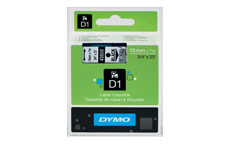 Dymo D1 Tape for Electronic Labelmakers 19mmx7m Black on Clear