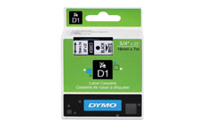 Dymo D1 Tape for Electronic Labelmakers 19mmx7m Black on White