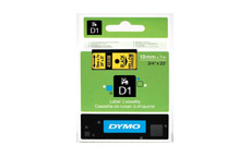 Dymo D1 Tape for Electronic Labelmakers 19mmx7m Black on Yellow