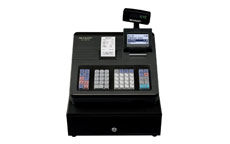 Sharp Cash Register 207B 2000 PLUs 99 departments and 12 lines/sec Black