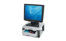 Fellowes Premium Monitor Riser Plus for 21in Capacity 36kg 5 Heights 118-168mm Grey