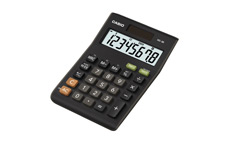 Casio Calculator Desktop Battery/Solar-power 8 Digit 3 Key Memory Black