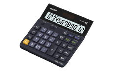 Casio Calculator Euro Desktop Battery Solar-power 12 Digit 3 Key Memory