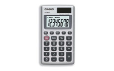 Casio Calculator Handheld Battery/Solar-power 8 Digit 3 Key Memory