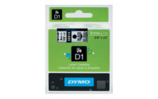 Dymo D1 Tape for Electronic Labelmakers 9mmx7m Black on Clear