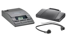 Philips Transcription Kit of Machine 155 Power Supply 234 Headset and 210 Foot Control