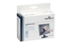Durable Screenclean Duo Antistatic Wet & Dry Wipes