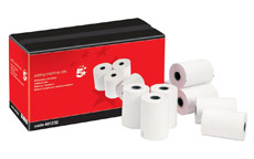 5 Star Adding Machine Roll Single Ply 55gsm W57xD70xCore12.7mm White [Pack 20]