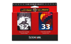Lexmark No. 32 and No. 33 Inkjet Cartridge Page Life 200/190pp Black/Colour