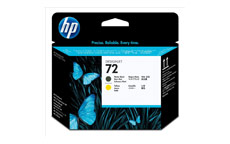 Hewlett Packard No. 72 Printhead Matt Black & Yellow