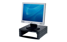 Monitor Screen Riser 34-100mm Storage Stackable 15kg Load Black