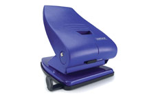 Rapesco 835P Punch 2-Hole Metal Heavy-duty with Lock-down Handle Capacity 40x 80gsm Blue