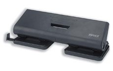 Rapesco 75P Punch 4-Hole ABS-top Capacity 16x 80gsm Black