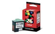 Lexmark No. 26 Inkjet Cartridge Page Life 275pp Colour