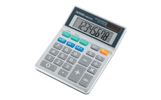 Aurora Calculator Desktop Battery/Solar-power 8 Digit 3 Key Memory