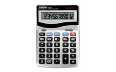 Aurora Calculator Desktop Battery/Solar-power 12 Digit 3 Key Memory 133x198x34mm