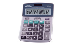 Aurora Calculator Desktop Battery/Solar-power 12 Digit 3 Key Memory
