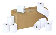 Credit Card Rolls Thermal 1-ply 57x55x12.7mm Length 37m White [Pack 20]