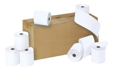 Credit Card Rolls Carbonless 2-ply 57x55x12.7mm Length 16m White and Yellow [Pack 20]