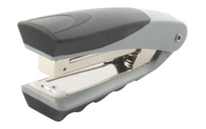 Rexel Centor Half Strip Stapler Vertical 65mm Throat 26/6 24/6 for 20 Sheets Silver and Black