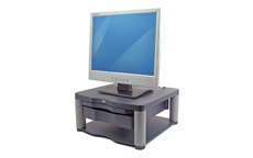 Fellowes Premium Monitor Riser Plus for 21in Capacity 36kg 5 Heights 118-168mm Graphite