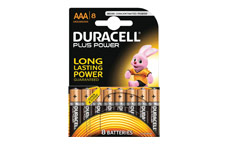 Duracell Plus Power Battery Alkaline AAA Size 1.5V