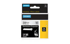 Dymo 622289 12mm Black on Clear Tape
