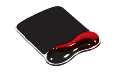 Kensington 62402 Duo Gel Mouse Pad Wave Red/Smoke