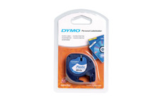 Dymo LetraTag Tape Plastic 12mmx4m Pearl White