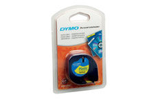 Dymo LetraTag Tape Plastic 12mmx4m Hyper Yellow