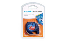Dymo LetraTag Tape Plastic 12mmx4m Cosmic Red