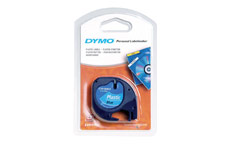 Dymo LetraTag Tape Plastic 12mmx4m Ultra Blue