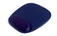 Kensington 64271 Foam Mousepad with Wrist Rest Blue