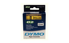 Dymo 69324 32mm D2 Yellow Tape