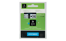 Dymo D1 Tape for Electronic Labelmakers 24mmx7m Black on White
