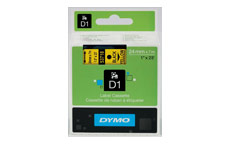 Dymo D1 Tape for Electronic Labelmakers 24mmx7m Black on Yellow
