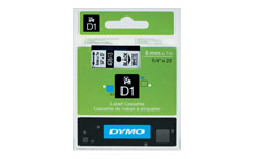 Dymo D1 Tape for Electronic Labelmakers 6mmx7m Black on White