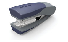 Rexel Centor Half Strip Stapler Vertical 65mm Throat 26/6 24/6 for 20 Sheets Silver and Blue
